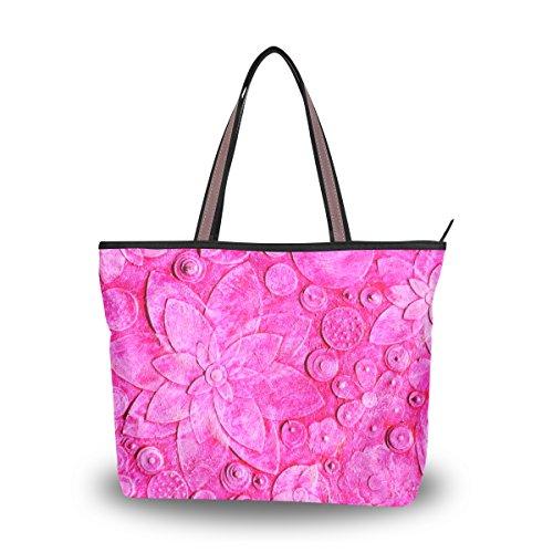 Extracto 3d El Grande Florece Floral Bolsa Grabado Bolso Del Hombro Totalizador Alaza OqTX8Hx