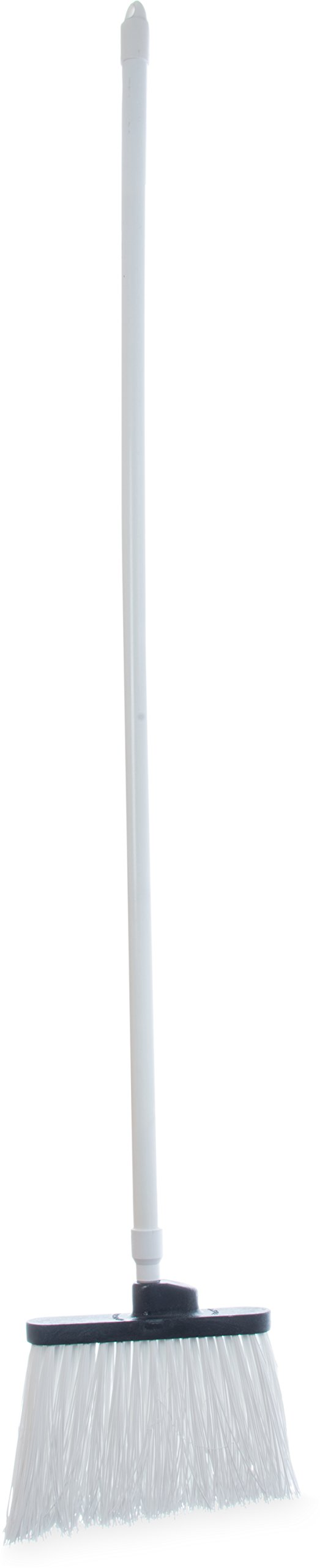 Carlisle 4108302 Sparta Duo-Sweep Unflagged Angle Broom with Fiberglass Handle, 54'' Length, White by Carlisle
