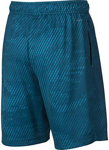 NIKE Boy's Dry Printed Fly Training Shorts (Blue Force, Small) by Nike (Image #2)