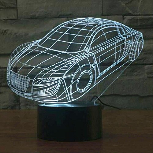 Comics+3D+Night+Lamp+ Products : Xmas Gift 3D Light Led Table Lamp Acrylic Night Light Car Touch Switch Usb