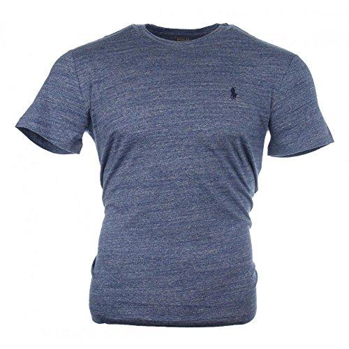 Ralph Lauren Rundhals Kurzarm T-Shirt - Blau meliert - Classic Fit