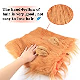 BAODATUI Lion Mane for Dog - Lion Mane Wig Costumes - Dog Halloween Costume Lion Hair for Large or Medium Dogs - Soft Touch Comfortable Fancy Hair with Free Lion Tail (Yellow)