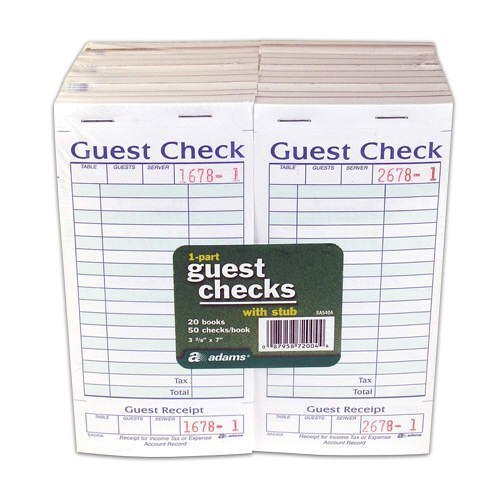 (Adams Guest Check with Stub (2-Pack/ 40 Total))