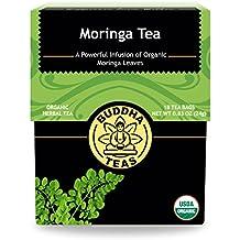 Organic Moringa Oleifera Tea - Kosher, Caffeine Free, GMO-Free, Bleach Free Tea Bags, 18 Count