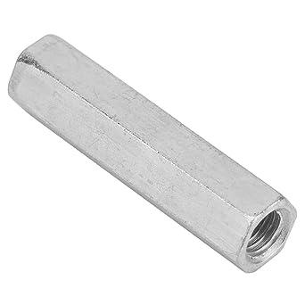 5 piezas de acero zincado M8 x 50 Tuerca de rosca hexagonal para aparatos dom/ésticos y de oficina equipos de comunicaci/ón y otras industrias de maquinaria Tuerca hexagonal larga