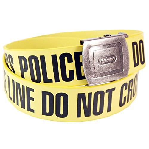 Police Design - Pop Art Products Men's Police Line Crime Scene Belt One Size Yellow