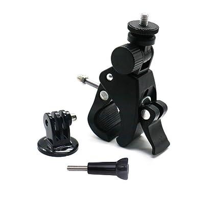 ParaPace Soporte para cámara de Bicicleta con Adaptador de trípode para GoPro Hero 7/6/5s/5/4s/4/3 +, 1/4-20 Rosca Soporte de Metal para Motocicleta para dji OSMO CASIO SJCAM: Amazon.es: Deportes y aire libre