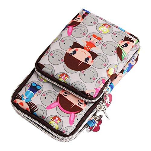 Wristlet Phone Multifunction New Crossbody Handbags Bag Smile Cell Wocharm Grey Purse Mini Ra8wqtt
