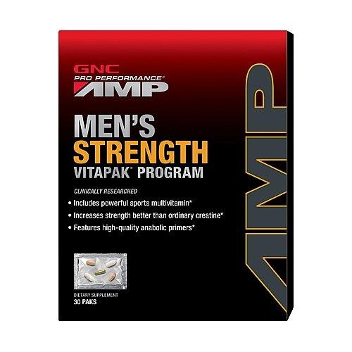 GNC AMP Mega Men Strength Vitapak Program,30 count paks