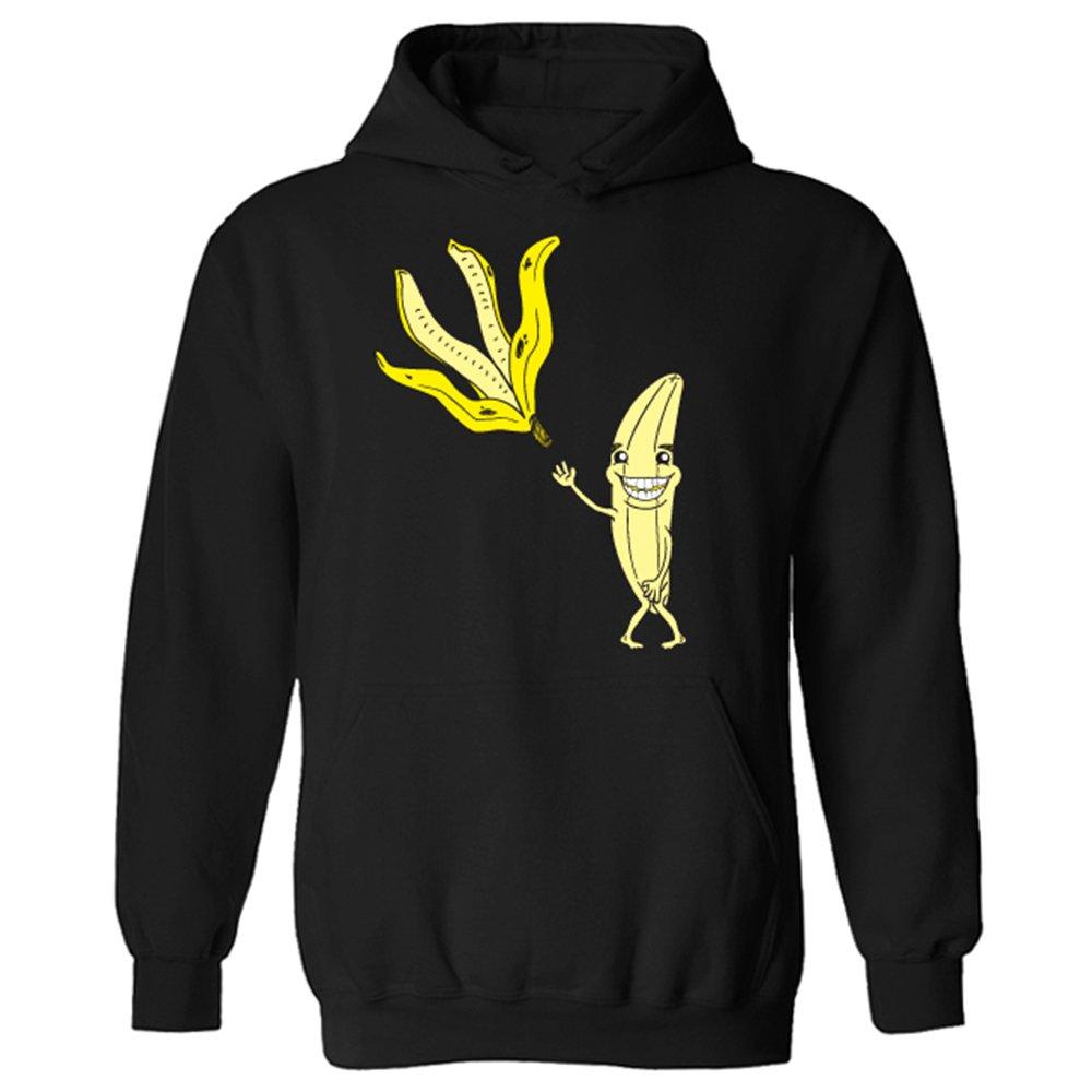 Flip Diseño con Texto en inglés Meme para Hombre Banana Skin Jersey Tira de Sudadera con Capucha: Amazon.es: Ropa y accesorios