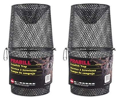 Frabill Deluxe Vinyl Crawfish Trap with 2-Piece Torpedo, 16.5 x 9-Inch (Тwо Расk)