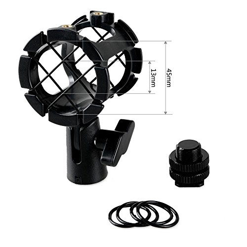 SmallRig Universal Microhone Shock Mount Adapter Mic Stand with Cold Shoe Pinch for On-Camera Microphones Rode Shock Mount - 1859