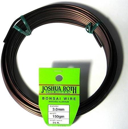 2.0 mm Anodized Aluminum Bonsai Training Wire Joshua Roth 150 gm coil