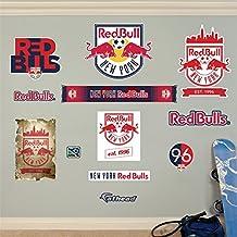 Fathead 67-67038 Wall Decal, MLS New York Red Bulls Logo Collection RealBig
