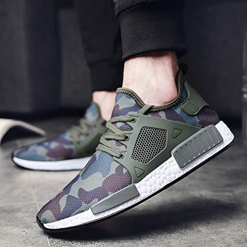 Dämpfung Grün Sneakers Mesh Fitnessschuhe Schnür Atmungsaktive Solshine Laufschuhe Freizeit Herren UnqxYXwzw1