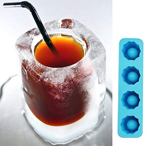 (Hot Heart Red Ice Cube Tray Mold Mould 3D Molds Makes Shot Glasses Novelty Gifts Summer Drinking Tool )