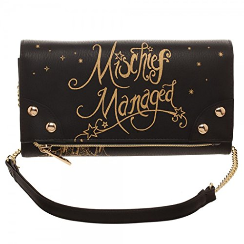 Harry Potter Mischief Managed Foldover Clutch Wallet Handbag ()