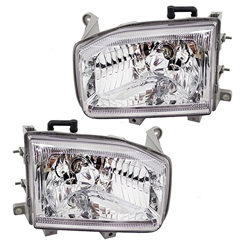 Driver and Passenger Headlights Headlamps Replacement for Nissan SUV 26060-2W625 26010-2W625 AutoAndArt ()