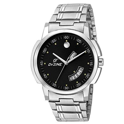 Dezine Black Dial Day and Date Display Analog Watch DZ GR1190 BLK CH
