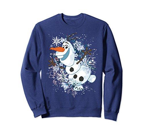 Unisex Disney Frozen Olaf Dancing In The Snowflakes Sweatshirt 2XL Navy (Dance T-shirt Sweatshirt)