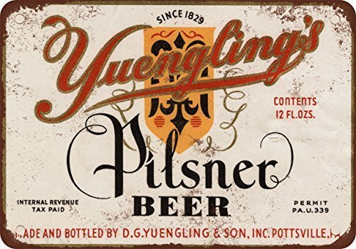 1934 Yuengling's Pilsner Beer Vintage Look Reproduction Metal Tin Sign 12X18 ()