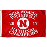 College Flags and Banners Co. Nebraska Cornhuskers 2017 Women's Volleyball Champions Flag