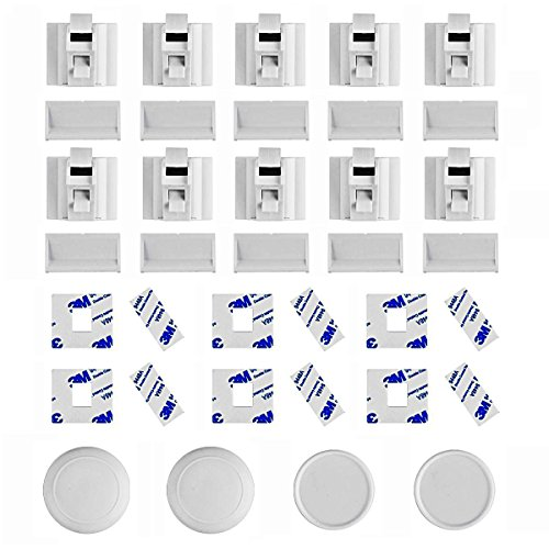 Linkax Baby Magnetic Locks Safety Cabinet Locks Child Magnet Drawer & Door Locks Set for Home Safety No Drilling (10 Locks + 2 Keys) by Linkax (Image #1)