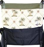 Handi Pockets 3c6ip Storage Accessory Wheelchair, Tapestry, Island Palm with Zipper