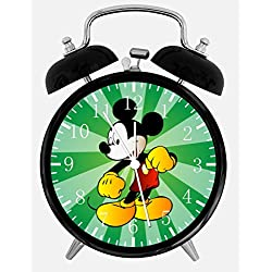 Disney Mickey Mouse Alarm Desk Clock 3.75 Home or Office Decor E103 Nice For Gift