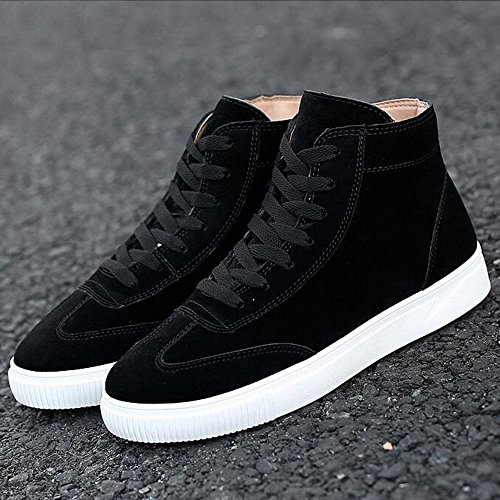 Men's Shoes Feifei Winter High Help Leisure Sport Plate Shoes 3 Colors (Color : Black, Size : EU43/UK9/CN44)