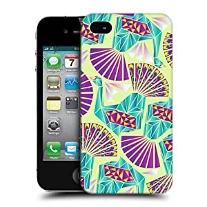 Head Case Designs Pattern Peacock Geometry Hard Back Case Cover for Apple iPhone 4 4S