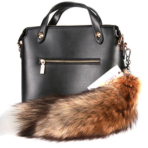 URSFUR Sun Fox Tail Fur Bag Charm Pendant