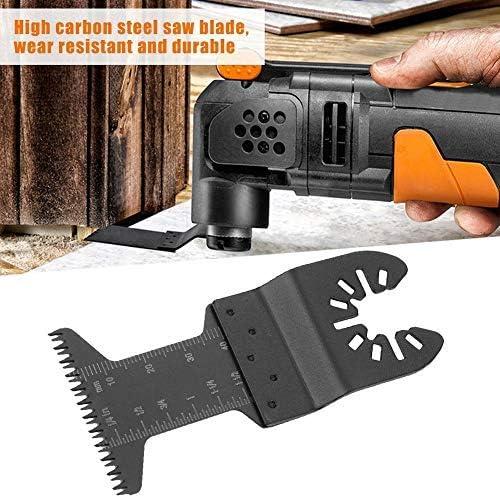 KKmoon 6pcs Oscillating Multi Tool Saw Blade HCS For Cutting Wood Plastic U5W9