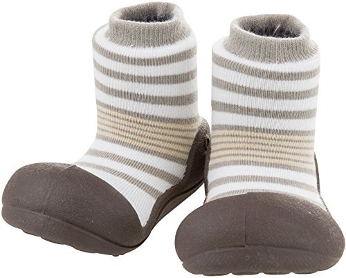 Attipas Baby First Walker Shoes (Medium, Natural Herb Grey)