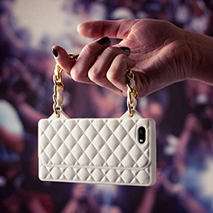 Cover Borsetta Per Iphone 5 5s Bianco Amazon It Elettronica