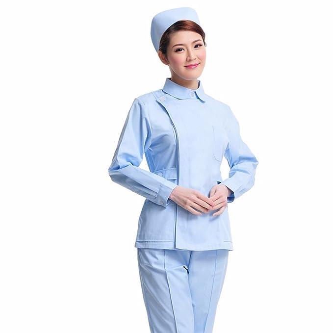 Xuanku Las Enfermeras Usar Mangas Largas, Ropa De Invierno, De Boca Dividida, Clínica
