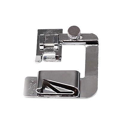 SUPVOX Máquina de Coser prensatelas Rodillo doblado Pie prensatelas 8/8 para máquina