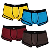Clear Stock! JINSHI Men's Boxer Briefs Soft and Breathable