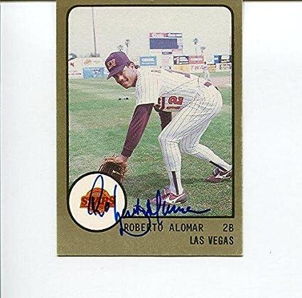 Roberto Alomar Las Vegas Stars 1988 Procards Rc Hof Signed