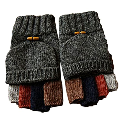 1 Pair Adult Cycling Sport Half Finger Hand Glove (Grey) - 9