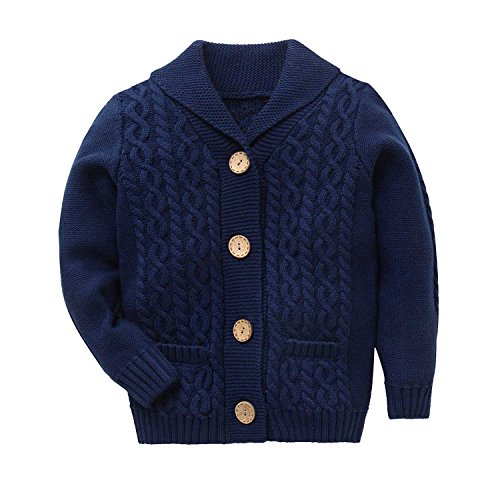 Cute Zebra - Zebra Fish Cute Girls Sweaters Girls Button Up Sweater Long Sleeve Casual Girls' Knit Cardigan 5-6Y