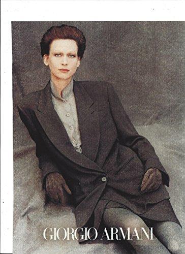 Vintage **PRINT AD** Set For 1989 Fall/Winter Giorgio Armani - Armani Collection