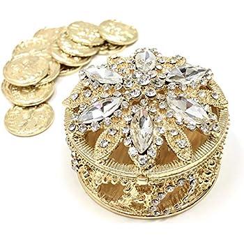 Amazon.com: Elegante de la boda corona de oro Arras con Set ...