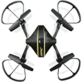 Lontect JJRC H44WH Diaman FPV RC Drone Foldable with 720P HD Wi-Fi Camera Live Video Feed 4CH 2.4GHz 6-Axis Gyro Quadcopter for Kids & Beginners, Black