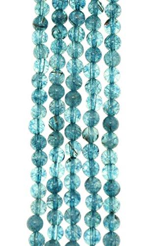 - GoodBead 4mm Ocean Blue Topaz Quartz Round Polished Beads 15.5