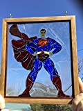 Superman Stained Glass Window Art Sun Catcher