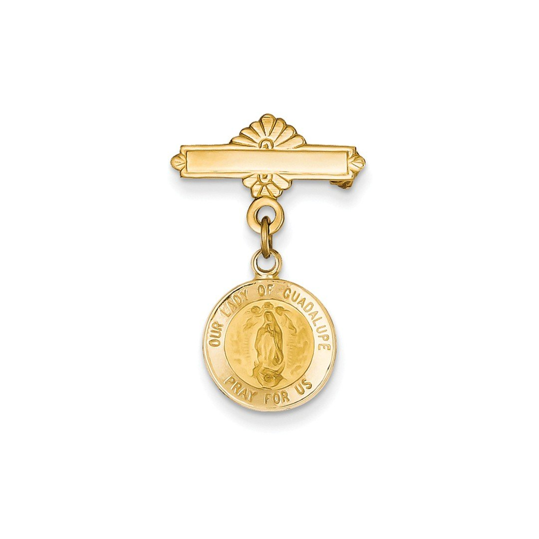 ICE CARATS 14k Yellow Gold Our Lady Of Guadalupe Medal Pendant Charm Necklace Pin Religious Fine Jewelry Ideal Mothers Day Gifts For Mom Women Gift Set From Heart