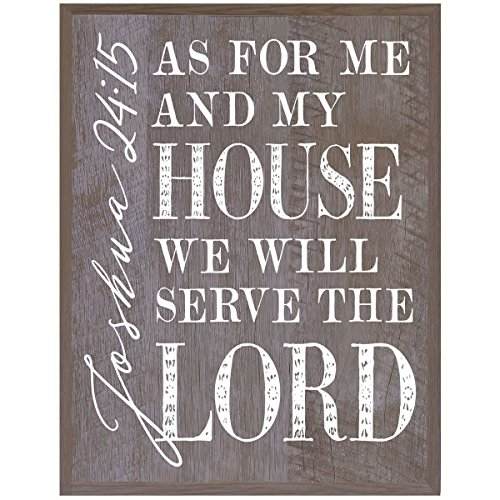As For me and My House Family wedding anniversary Housewarming Gift for husband wife Parents, New Home Christian gift ideas 12 Inches w X 15 Inches By Dayspring Milestones (Barnwood)