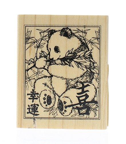 PANDA Wood Mounted Rubber Stamp InkaDinkaDo