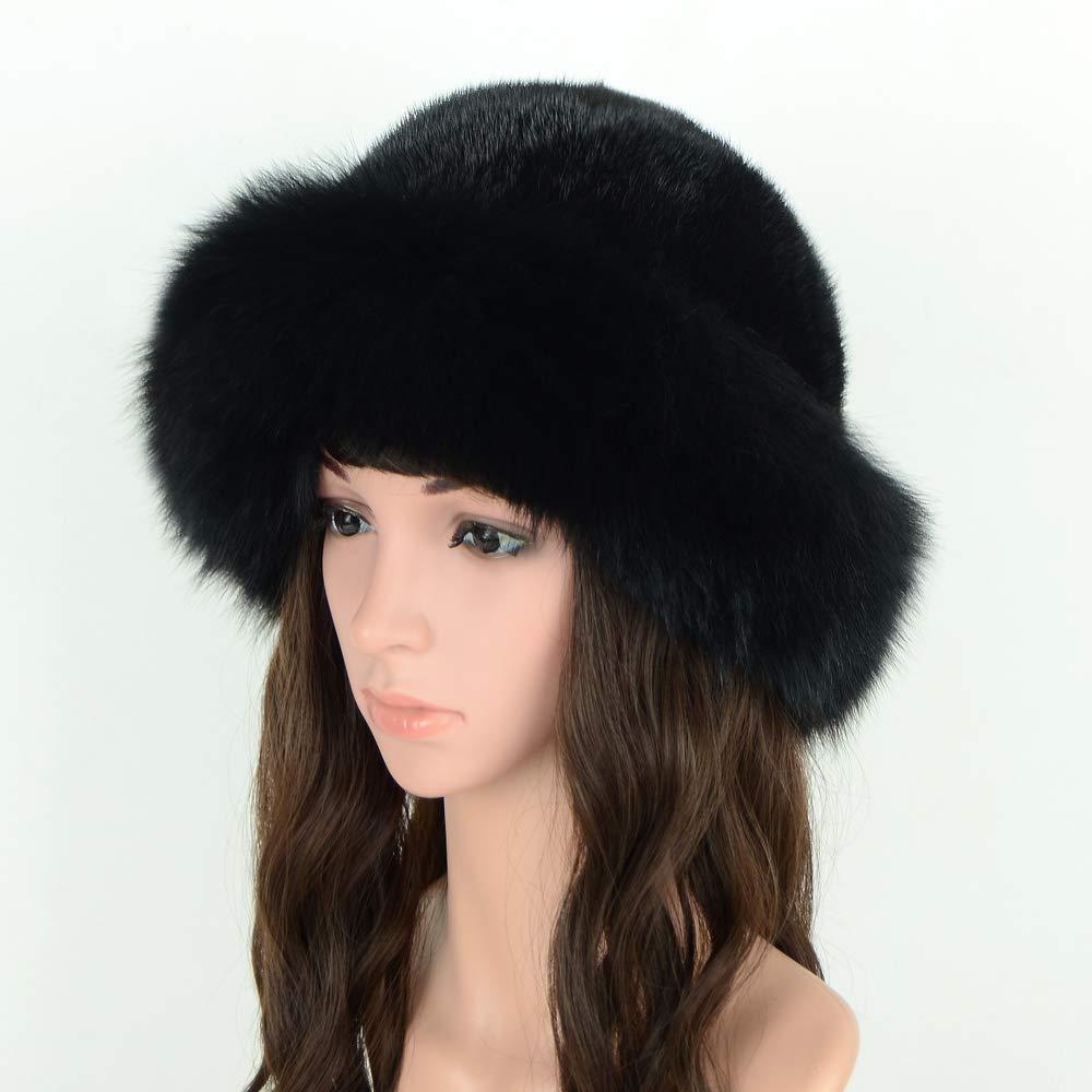 5e265a46423ef MH Bailment Womens Winter Hat with Fox Brim Real Fur Hats (M